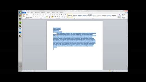 How To Single Space A Word Document Youtube