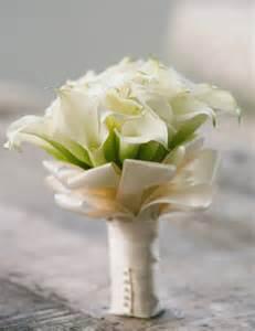White Calla Lily Wedding Bouquets Pinterest