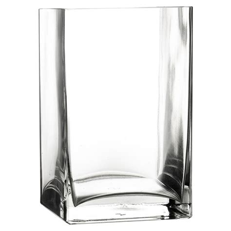 Square Vases by Pasabahce Square Rectangle Glass Flower Vase Gift Box