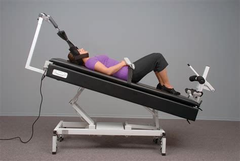 traction table for back spinal rejuvenation therapy and decompression