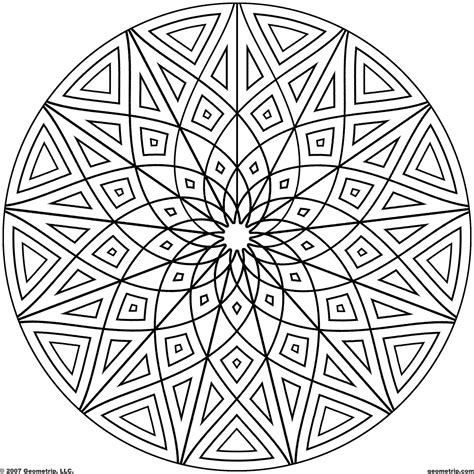 cool geometric designs coloring page   circles