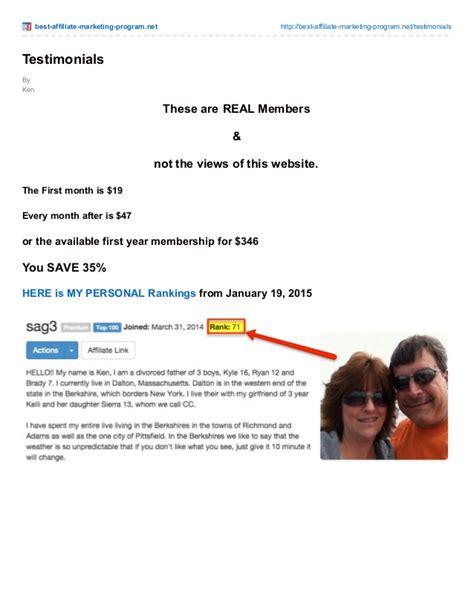 best marketing program best affiliate marketing program net testimonials
