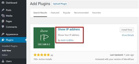 display  block ip addresses   wordpress