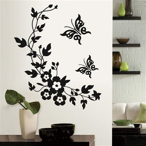 wall sticker home decor aliexpress buy newest classic butterfly flower home wedding decoration wall stickers for