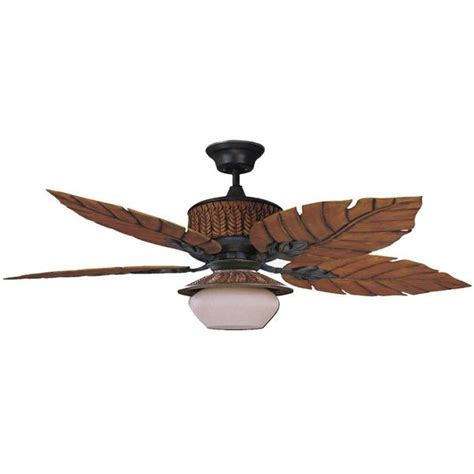 """Concord Fans 52"""" Fern Leaf Breeze Rustic Iron Outdoor"""