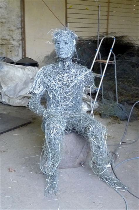 wire figures human figure wire portrait sculptures