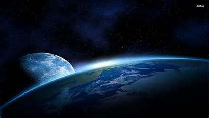 Earth Moon Space Wallpapers Planet Desktop Middle