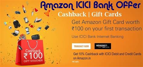 At present, the card is offered only to icici bank customers using the amazon app. Amazon ICICI Bank Offers August 2021 { Discount + Vouchers}