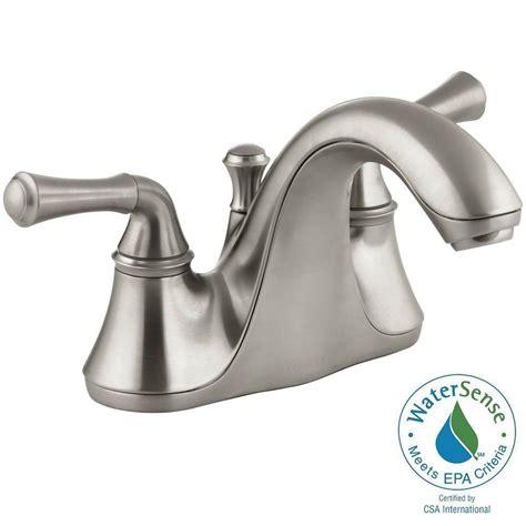 Kohler Forte Bathroom Faucet Brushed Nickel by Kohler Forte 4 In Centerset 2 Handle Low Arc Water Saving
