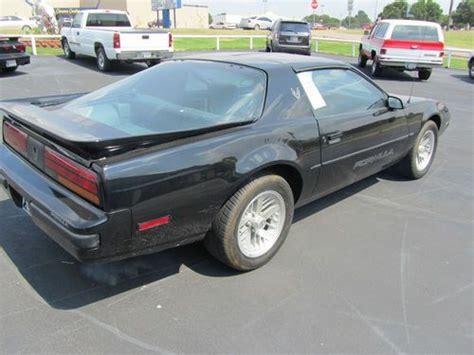 how does cars work 1989 pontiac firebird user handbook buy used 1989 pontiac firebird formula in shawnee