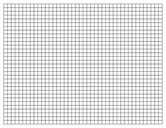 letter graph paper template  landscape