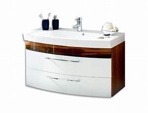Waschtisch 100 Cm Breit : bad waschtisch rima 2 ausz ge 100 cm breit wei walnuss bad rima ~ Indierocktalk.com Haus und Dekorationen
