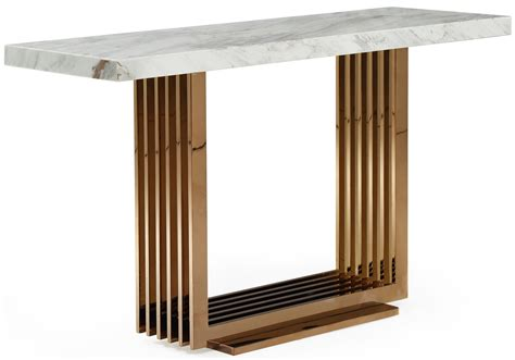 Marble Console Table by Fabrizio White Top Marble Console Table Gold