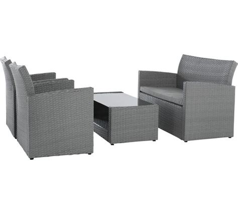 buy collection rattan effect grey 4 seater sofa set