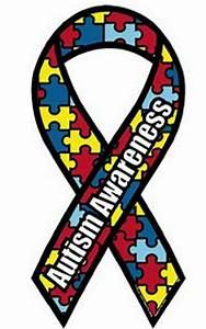 Autism Awareness Ribbon Puzzle Piece Car Magnet