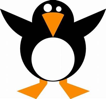 Simple Penguin Clip Clipart Vector Clker Domain