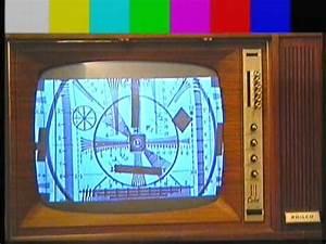 Test Card Pattern Monoscopi Mire In Old Tv Philco Predicta Color Tube Valvole