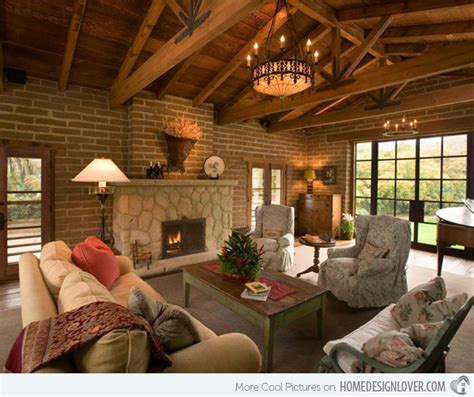How To Light Wood Burning Fireplace by 15 Homey Country Cottage Decorating Ideas For Living Rooms