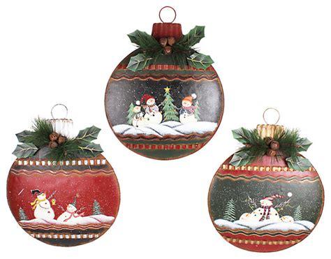 metal christmas hanging ornament wall decor large set