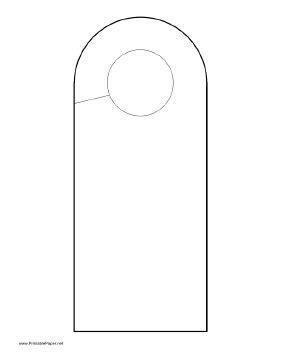 printable rounded doorhanger