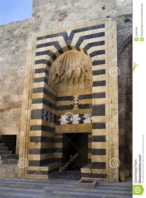 porte antique de la vieille citadelle d aleppo photo stock image 12067960