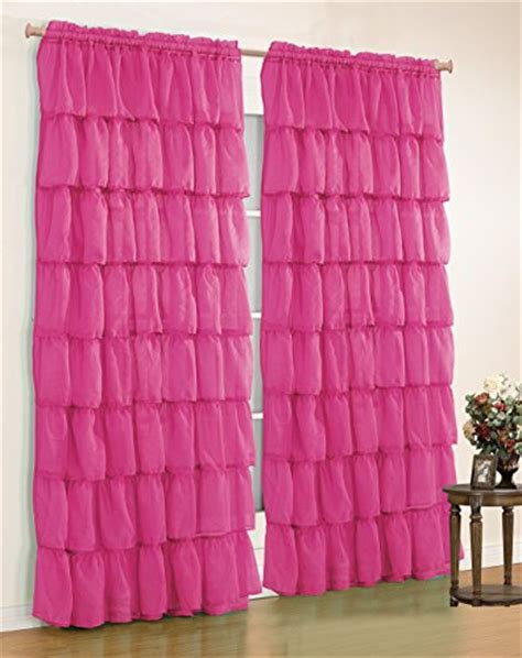 mk home mk collection gypsy crushed ruffle sheer curtains