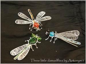 3 Little Damselflies By Antonymi1 On Deviantart
