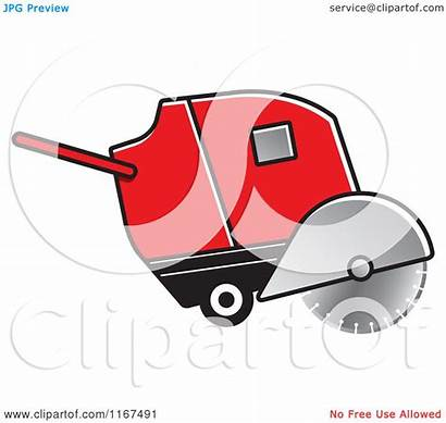 Concrete Machine Cutting Clipart Illustration Vector Royalty