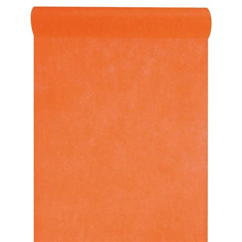 chemin de table orange chemin de table orange polyester non tiss 233 en rouleau de