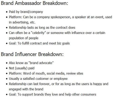 brand ambassador contract template business