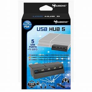 Subsonic Hub Usb 5 Ports PS4 Accessoires PS4 Subsonic
