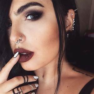 Picture Of Double Nose Hoop Piercing Plus An Embellished