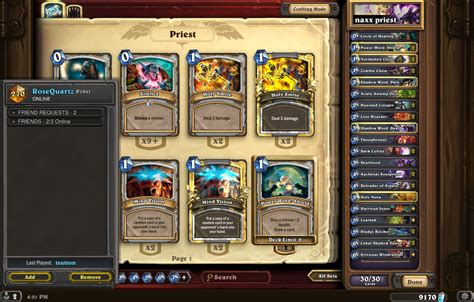 best priest deck kft from 10 to legend in 2 days naxx priest deck hearthstone
