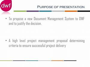 proposal dms With document management system project proposal