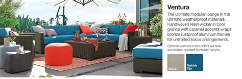 ventura weatherproof outdoor furniture crate and barrel