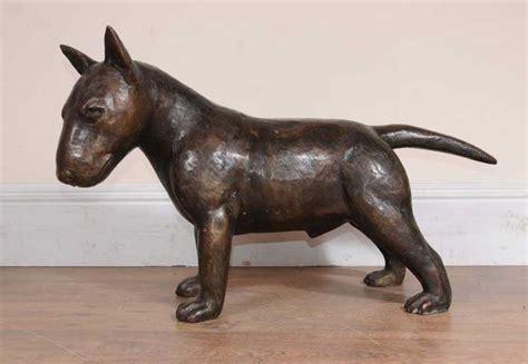 bronze english bull terrier statue lifesize