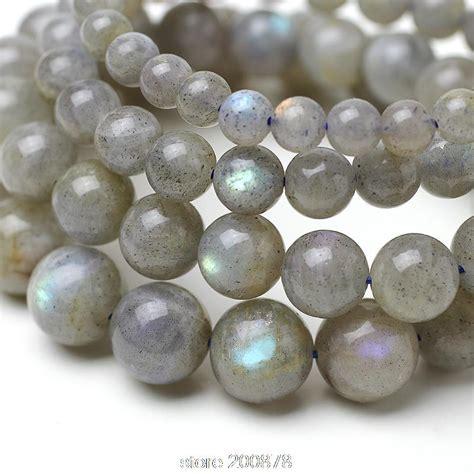 natural labradorite beaded bracelets grey blue