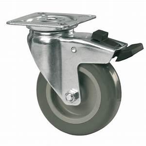 Roue Pivotante : roulette de chariot sur platine polyur thane roue pivotante avec blocage tente bricozor ~ Gottalentnigeria.com Avis de Voitures