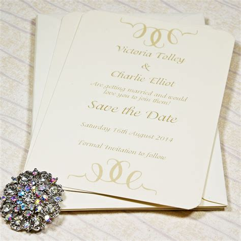 Affordable postcard style Save The Date Cards with a