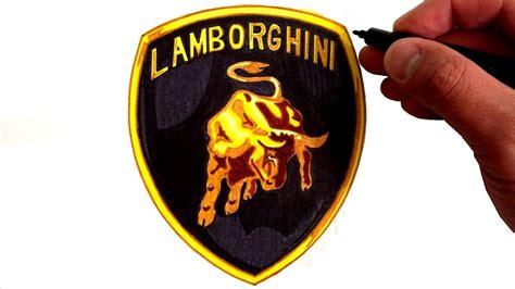 draw  lamborghini logo youtube