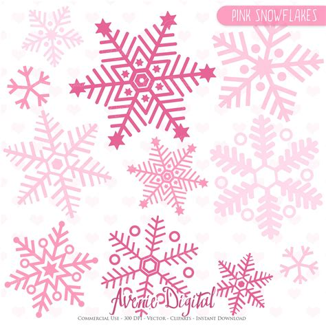 Silver Pink Snowflake Background by Pink Snowflakes Clip And Vectors Illustrations