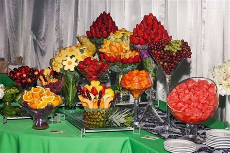 Tablescapes Luau Theme Party And Fruit Buffet On Pinterest
