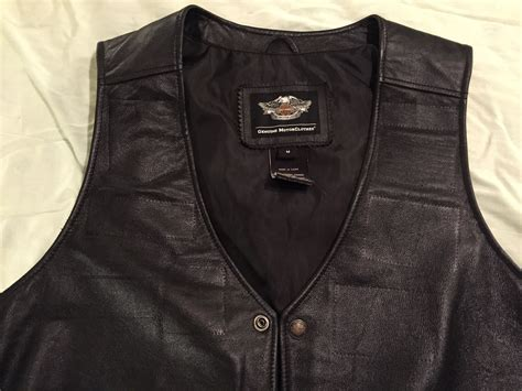 Hd Pathway Leather Vest-men's Medium