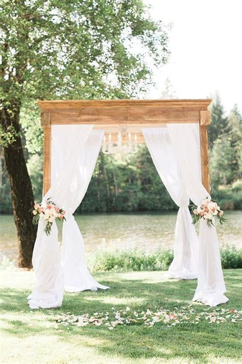 romantic gold blush riverside wedding arbors romantic