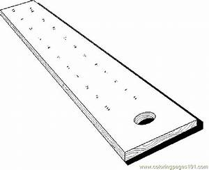 Free coloring pages of foot ruler