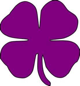 Purple Shamrock Clip Art