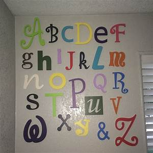 Nursery letters wall hanging decor wooden