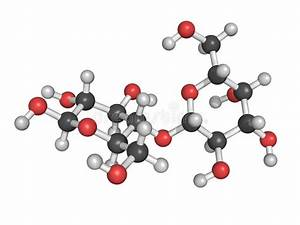 Chemical Structure Of Lactose, A Milk Sugar Molecule Stock ...