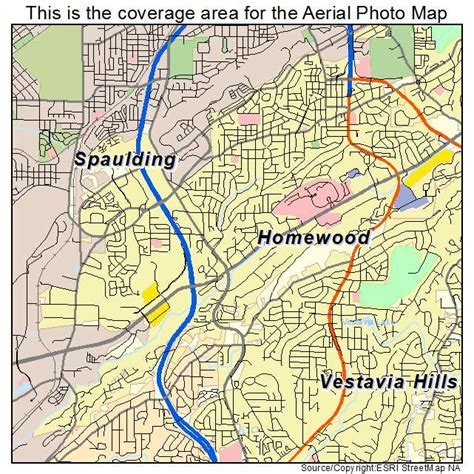 homewood alabama aerial photography map of homewood al alabama