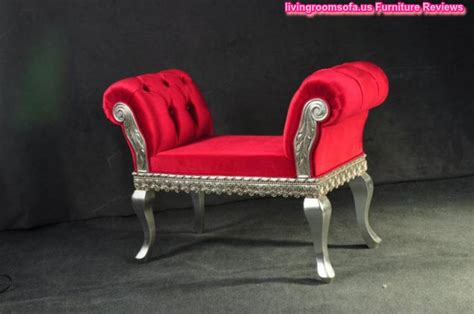 Red Bedroom Settee Bench Design Ideas